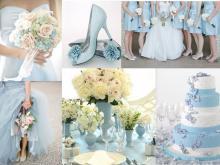 Svetlomodrá svadobná výzdoba - TRENDY ROKU 2016