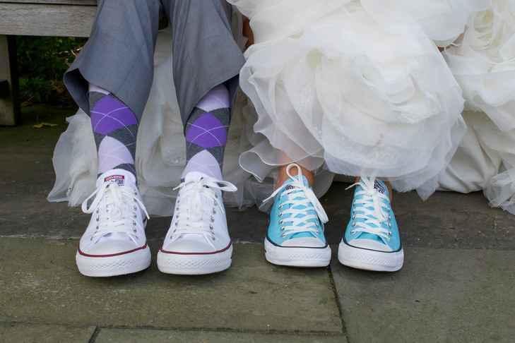 2ba2f34ba3770 Tenisky ako svadobná obuv? | www.svadobneinspiracie.sk